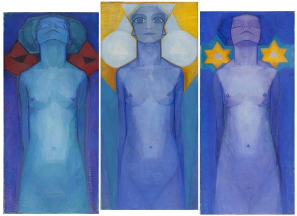 Mondrian,_Evolution_(Triptychon),_1911